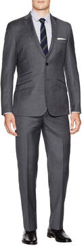 English Laundry Men's Regular Fit Sharkskin Wool Suit