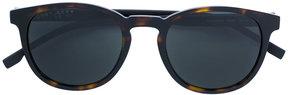 HUGO BOSS tortoise round sunglasses