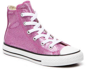 Converse Chuck Taylor All Start Glitter Toddler & Youth High-Top Sneaker - Girl's