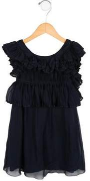 Chloé Girls' Pleated Silk Dress w/ Tags
