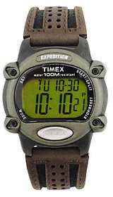 Timex Expedition Outdoor Athletics Watch with Leather Strap