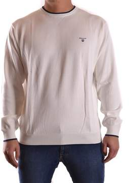 Gant Men's White Cotton Sweater.