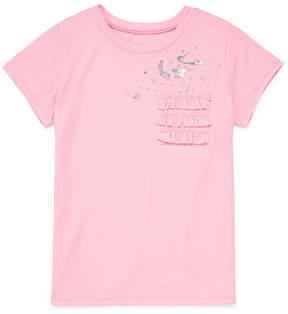 Arizona Short Sleeve Ruffle Pocket Graphic Tee - Girls' 4-16 & Plus