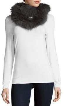 Yves Salomon Knitted Fox Fur Scarf