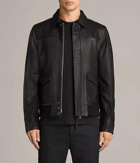 AllSaints Morenci Leather Aviator Jacket
