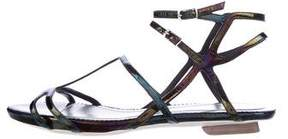 CNC Costume National Iridescent Multistrap Sandals