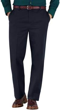 Charles Tyrwhitt Navy Classic Fit Flat Front Non-Iron Cotton Chino Pants Size W32 L30