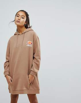 Ellesse Oversized Hoodie Dress With Washed Out Logo