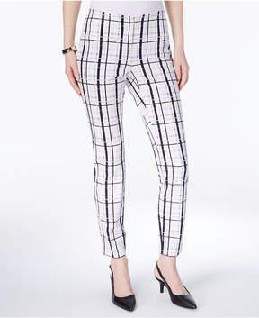 Alfani Windowpane Bi-Stretch Skinny Pants, Created for Macy's