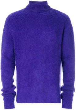 Paura fluffy roll neck jumper