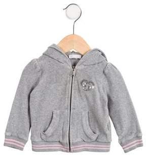 Gucci Girls' Hooded Velour Sweatshirt