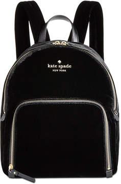 Kate Spade Watson Lane Velvet Hartley Small Backpack - BLACK - STYLE