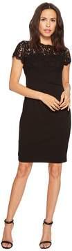 Adrianna Papell Cynthia Lace and Knit Crepe Sheath Women's Dress