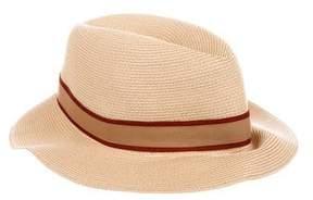 Hermes Marseille Straw Fedora Hat