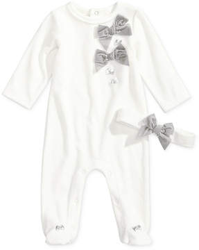 First Impressions 2-Pc. Headband & Bows Footed Coverall Set, Baby Girls (0-24 months), Created for Macy's