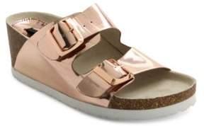 Kensie Metallic Open-Toe Wedge Sandals