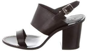 Sandro Leather Ankle Strap Sandals