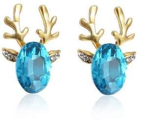 Alpha A A Christmas Gold Tone Deer Ears Earrings