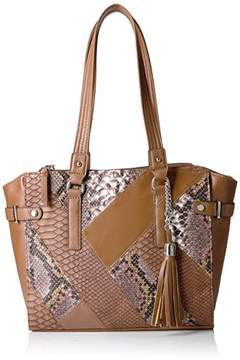 Rosetti Patent and Snake Patchwork Tote
