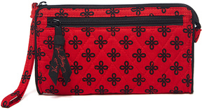 Vera Bradley Red & Black Mini Concerto Front-Zip Wristlet - RED - STYLE