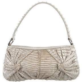 Burberry Fringe-Accented Leather Shoulder Bag - SILVER - STYLE