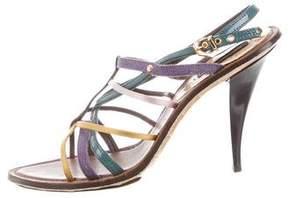 Louis Vuitton Satin Multistrap Sandals