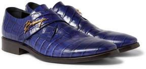 Balenciaga Croc-Effect Leather Shoes