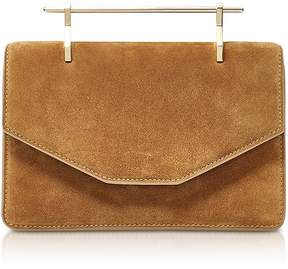 M2Malletier Indre Camel Suede Crossbody Bag