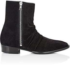 Amiri Men's Skinny Stack Suede Ankle Boots
