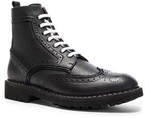 Givenchy Leather Wingtip Boots
