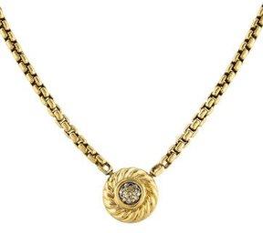 David Yurman 18K Diamond Cookie Pendant Necklace