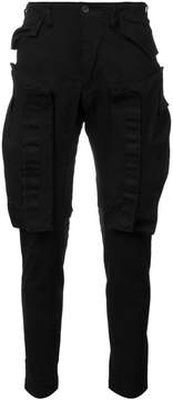Julius tapered pocket trousers