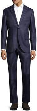 Lubiam Men's Wool Pinstripe Suit