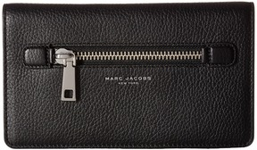 Marc Jacobs Gotham Flat Phone Pouch Handbags - BLACK - STYLE