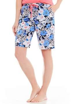 Karen Neuburger Floral-Print Bermuda Sleep Shorts