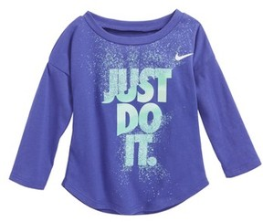 Nike Infant Girl's Just Do It Splice Graphic Tee