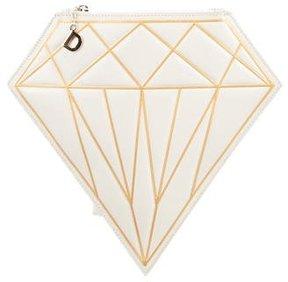 Charlotte Olympia D-Diamond Leather Clutch