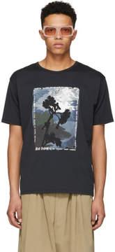Acne Studios Black Naive Flower T-Shirt