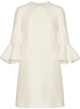 Valentino Wool And Silk-blend Mini Dress - Ivory