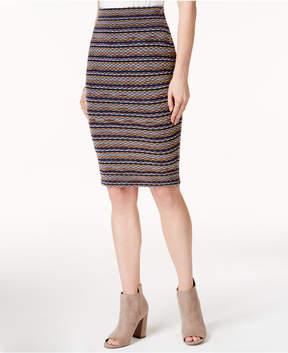 Bar III Printed Sweater Skirt, Created for Macy's