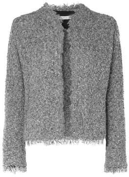 IRO Shavani Frayed Cotton-blend Bouclé Jacket - Charcoal