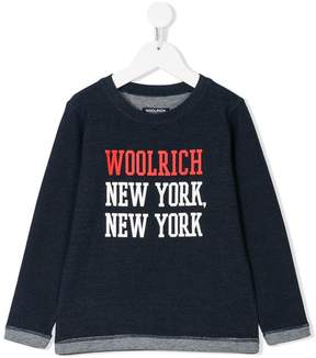 Woolrich Kids New York print sweatshirt