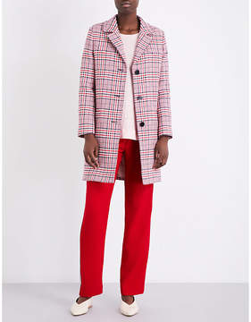 Claudie Pierlot Ladies Ruby Giant Checked Cotton-Blend Coat