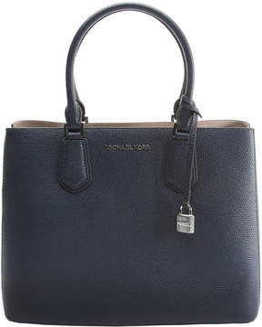 Michael Kors Navy & Cement Adel Leather Tote - NAVY - STYLE
