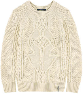 Scotch & Soda Cable stitch knit sweater