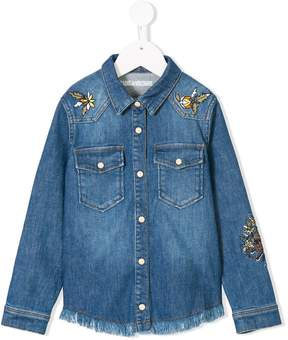Zadig & Voltaire Kids embroidered denim shirt