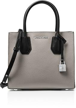MICHAEL Michael Kors Studio Mercer Color Block Medium Pebbled Leather Messenger - GRAY/SILVER - STYLE