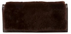 Gucci Rabbit Fur Clutch - BROWN - STYLE