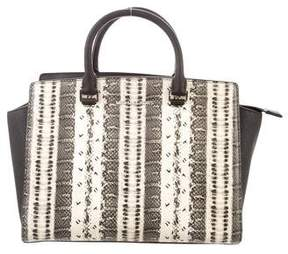 MICHAEL Michael Kors Embossed Large Selma Satchel