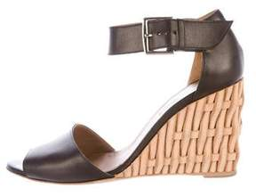 Hermes Woven Wedge Sandals